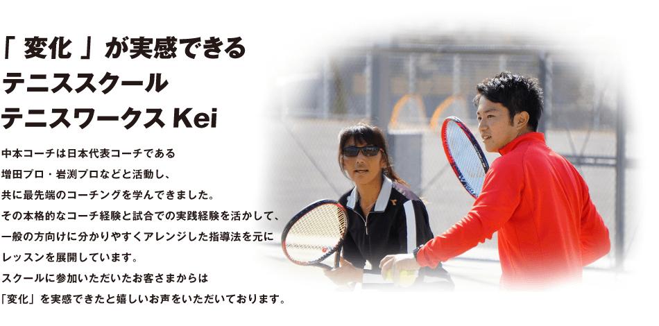 「 変化 」が実感できる テニススクール テニスワークスKei
